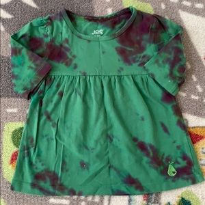 Joe Fresh Green Tie Dye Tunic Dress Top Toddler 2